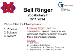 bell ringer please define the following terms drafting career