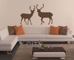 online get cheap deer wall aliexpress com alibaba group north european tundra animal reindeer deer silhouette wall art sticker vinyl decal die cut room stencil mural home office decor