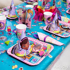 doc mcstuffins wrapping paper doc mcstuffins place setting idea party city