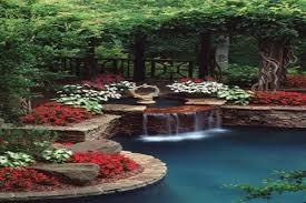 Beautiful Backyards Pond Designs With Waterfalls Beautiful Backyards On A Budget
