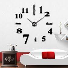 3d creative wall clocks home decorations crafts