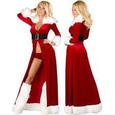 high quality xmas red robes fancy dress women santa