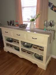 How To Build A Buffet Cabinet by Diy Dresser To Buffet Table Made By My Bffs Diy Pinterest