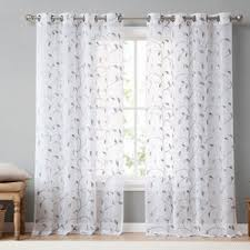 Sheer Embroidered Curtains 72 Inch Sheer Curtains Wayfair