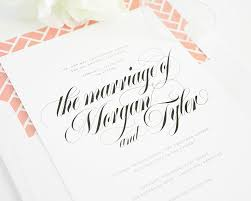 calligraphy for wedding invitations your wedding invitation says it all soirees southern events