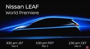 nissan leaf charge time livestream of 2018 nissan leaf unveiling on september 5th 5 30pm