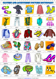 Shopping Worksheets Clothes Pictionary 1 Poster Vocabulary Worksheet