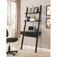 Diy Shelf Leaning Ladder Wall by Homely Ideas Leaning Desk With Shelves Magnificent Ana White Wall