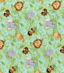 Fabric For Nursery Curtains Nursery Cotton Fabric 44 Jungle Babies Joann