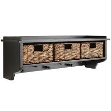 Wall Shelves Holtom Rubbed Black Wall Shelf With Baskets Pier 1 Imports