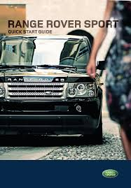 land rover automobile 2007 range rover sport user guide