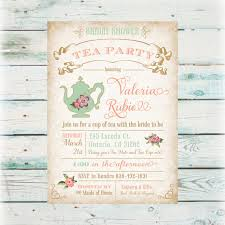 tea party bridal shower invitations floral tea party bridal shower invitation digital bridal shower