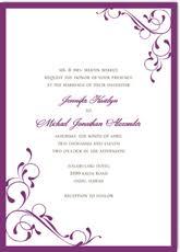 Purple Wedding Invitations Purple Wedding Invitations Template Best Template Collection