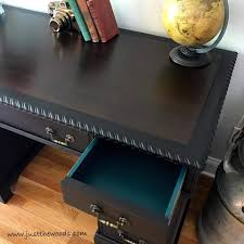 How To Repaint Furniture by How To Save The Leather Top On A Vintage Desk By Just The Woods