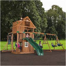 Backyard Swing Sets Canada Backyards Fascinating Homemade Playset Yes Please 80 Backyard