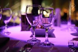 table decorated for romantic dinner for two stock photo picture