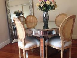 Mirrored Dining Room Tables Round Mirrored Dining Table U2013 Wisteria Homeware And Living