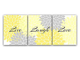 amazon com home decor wall art live laugh love yellow wall art