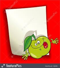 illustration of cartoon design with green apple