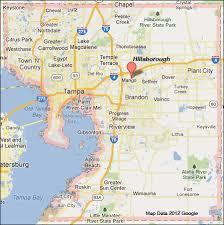 florida towns map hillsborough county florida map