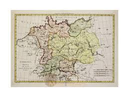 germania map germany antique map germania vetus bonne 1787 m m