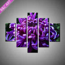 indian home decor items village landscape purple flower wall
