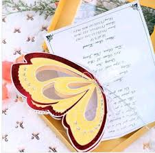 colorful butterfly wedding invitations thanksgiving