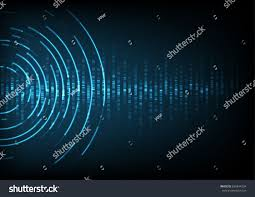 abstract digital sound wave background stock vector 636844234