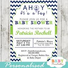 nautical baby shower invitations navy green nautical anchor baby shower invitation d195 baby