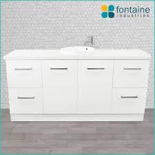 Stone Basin Vanity Unit Royale 1800 Freestanding Bathroom Vanity Ceramic Basin 40mm Thick