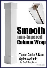 decorative column wrap pvc columns porch post surround