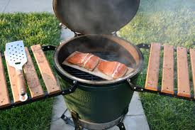 salmon on an egg green leaf bbq shop gourmet bbq products