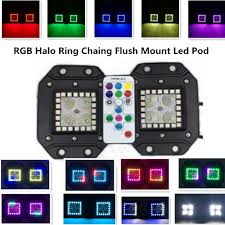 Led Light Bar For Boats by 3 2 Inch 16w Halo Ring Rgb Chasing Cree Led Pod With Rf Remote