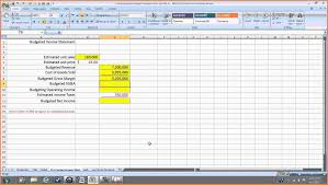 Income Statement Excel Template 10 Pro Forma Income Statement Template Excel Statement Synonym