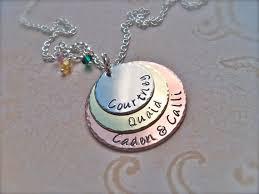 day necklaces mothers day necklaces mothers day gift three disc
