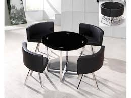 white space saver table round space saving white dining table and chair set round table ideas