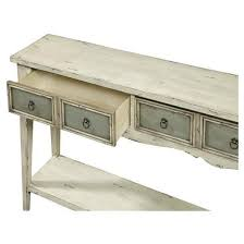Distressed Table Kincaid Two Tone Distressed Console Table White Pulaski Target