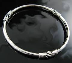 solid sterling silver bracelet images Genuine polished 925 solid sterling silver 9 bangle bracelet jpg