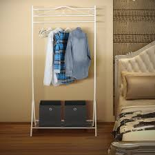 Decorative Metal Garment Floor Rack by Amazon Com Homfa Metal Garment Rack Clothing Racks With Bottom