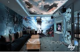 wallpaper for entire wall alien invading science fiction theme space entire room wallpaper 3d