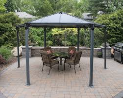 patio furniture gazebo amazon com palram monaco hexagon gazebo 15 x 13 gray patio