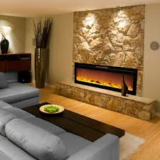 reno 60 inch log built in recessed wall mounted electric fireplace