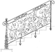 stairs interesting wrought iron railing parts glamorous wrought