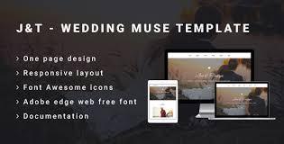 j u0026t wedding muse template by awesomethemez themeforest