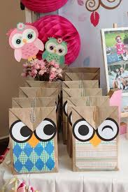 owl birthday party ideas owl birthday favor bags and favors