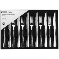 judge stainless steel windsor cutlery set of six steak knives
