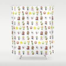 mario bros shower curtain home decorating interior design bath