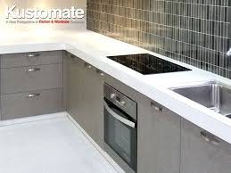 Concrete Kitchen Countertops With Melamine Cabinets KUSTOMATE - Kitchen cabinets melamine
