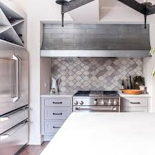 modern kitchen backsplash ideas for cooking with style gray metal look tile backsplash by bill moore emory ratliff