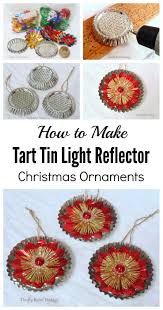 repurposed tart tin ornaments thrifty rebel vintage